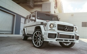 Picture Mercedes, AMG, White, G63, W463, Brick