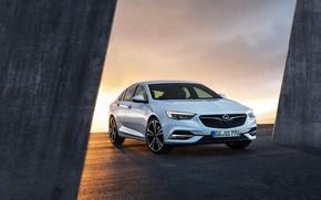 Picture white, sunset, Opel, Insignia Grand Sport