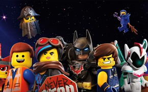 Picture the sky, background, fiction, cartoon, stars, poster, characters, The Lego Movie 2: The Second Part, …
