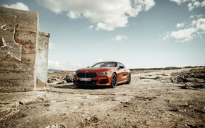 Picture wall, coupe, BMW, Coupe, 2018, 8-Series, dark orange, M850i xDrive, Eight, G15