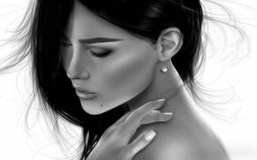 Wallpaper girl, mood, tenderness