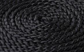 Picture round, spiral, texture, rope, rope, black, string, свернутая