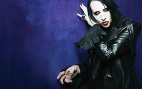 Picture makeup, male, singer, Marilyn Manson