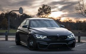 Picture BMW, Light, Black, Evening, Sight, LED, F81