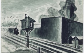 Picture 1920, Charles Ephraim Burchfield, Study for Gates Down