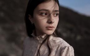 Picture girl, portrait, freckles, Juliana Naidenova