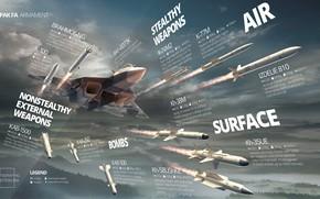 Picture The plane, Fighter, Russia, Art, Missiles, BBC, Weapons, T-50, Videoconferencing, Multi-role fighter, Su-57, Davydenko, PAK-FA …