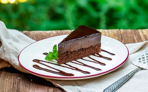 Picture plate, cake, cake, dessert, chocolate, souffle