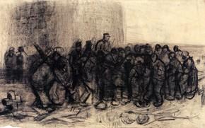 Picture people, cross, accumulation, military, Vincent van Gogh, Sale of Building, Scrap 2
