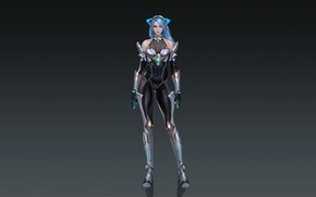 Picture Girl, Fantasy, Art, Style, Background, Illustration, Armor, Cyber, Figure, Character, Lei Deng