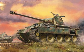 Picture Panther, tank, jason, the Wehrmacht, average, panzerwaffe, Pz.Kpfw.V Panther A Early