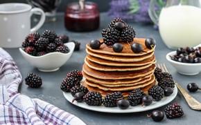 Picture berries, blueberries, pancakes, BlackBerry