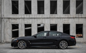 Picture black, coupe, BMW, side view, Gran Coupe, 2020, 8-Series, 2019, the four-door coupe, M850i xDrive, …