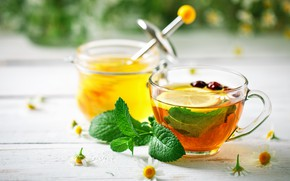 Picture tea, honey, grass, fragrant