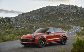 Picture machine, nature, Porsche, Coupe, Cayenne, crossover