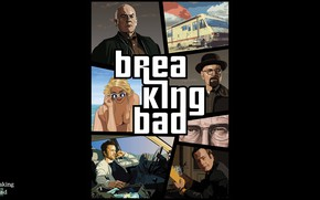 Picture the series, poster, characters, Breaking bad, Breaking Bad