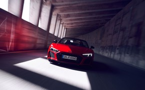 Picture red, the tunnel, Audi R8