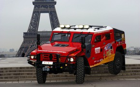 Picture red, SUV, stage, Renault, Sherpa, Renault Trucks