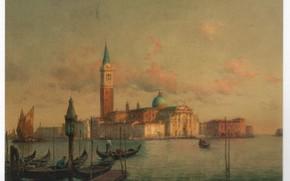 Picture boats, pier, VENICE, BOUVARD, S. GIORGIO MAGGIORE