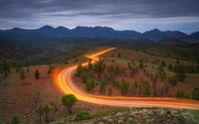 Picture road, trees, mountains, Australia, Australia, New South Wales, New South Wales, Razorback, Горы Флиндерс, Разорбек, …