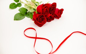 Picture flowers, roses, tape, red, red, March 8, flowers, romantic, roses