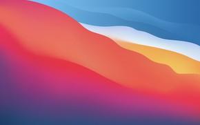 Picture wave, color, Wallpaper, macos