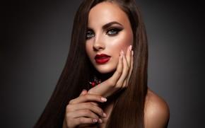 Picture girl, portrait, makeup, hairstyle, girl, woman, hair, model, makeup, Korabkova