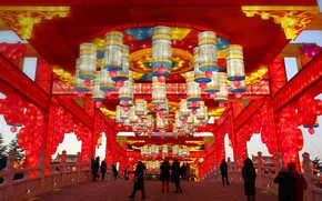 Picture New Year, China, lanterns, XI'an, spring festival