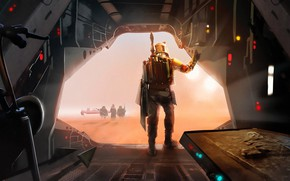 Picture Star Wars, Concept Art, Boba Fett, Characters, The arrival, Jose Angel Jammed Fernandez, by Jose …