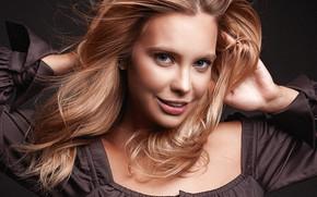 Picture look, girl, face, smile, hair, portrait, Ekaterina Lugansk, Nikita Chursin
