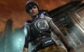 Picture brunette, gears of war, games, gears of war 4, microsoft game studios, Kate Diaz, kait …