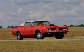 Picture Muscle, Dodge, Red, Classic, Coupe, Charger, Vehicle
