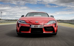 Picture red, coupe, before, Toyota, track, Supra, the fifth generation, mk5, double, 2019, GR Above, A90, …