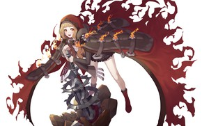 Picture background, the game, art, girl, cloak, Sinoalice, Akazukin