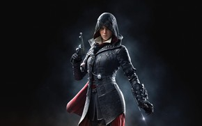 Picture girl, background, hood, assassin, Assassin's Creed, Assassin's Creed Syndicate