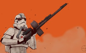 Picture Figure, Star Wars, Art, Art, Illustration, Characters, Attack, Stormtrooper, StarWars, Comic Art, Mike Patrick, by …