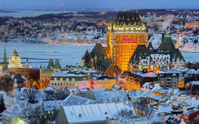 Picture view, Canada, panorama, QC, Old town