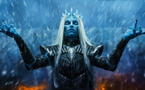 Picture eyes, look, girl, Snow, gesture, Queen, the white walkers
