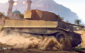 Wallpaper WoT, World of Tanks, Wargaming, Tiger 131