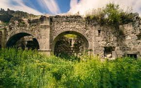 Picture ruins, the monastery, Armenia