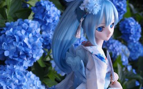 Picture flowers, toy, doll, hydrangea