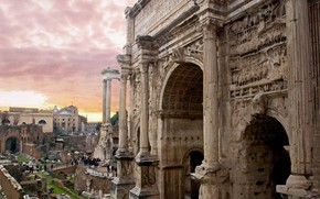 Picture Rome, Italy, Palatine, Arch of Septimius Severus