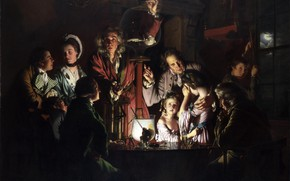 Picture picture, genre, Joseph Wright, An Experiment on a Bird in an Air Pump, Joseph Wright, …