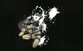 Picture gun, weapons, dagger, killer, in the dark, spray paint, by Yuusuke Kozaki, Kyoko Karasuma no …