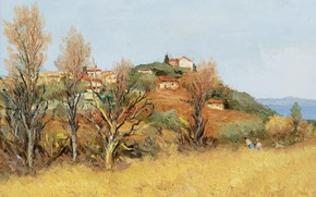 Picture landscape, picture, Marseille Dif, Marcel Dyf, The Hill of Gaude