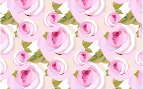 Picture roses, Pink, background, pattern, roses