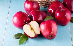 Picture fruit, red, fruit, wood, apples, fresh, apples