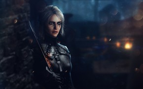 Picture Girl, Fantasy, Art, The Witcher, The Witcher, Witcher, Fanart, Ciri, Cirilla, Game Art, CD Project …