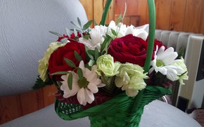 Picture Basket, Bouquet, Gift