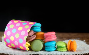 Picture colorful, dessert, cakes, sweet, sweet, dessert, bright, macaroon, french, macaron, macaroon